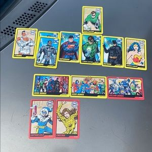 Dc comics Hero's and villains coin pusher cards